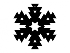 snowflake design 416 Free Dxf for CNC