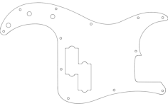 pbass plate Free Dxf for CNC