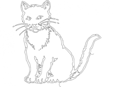 gato (cat) Free Dxf for CNC