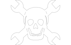 skull wrench Free Dxf for CNC