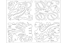 tritops animal Free Dxf for CNC