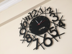 wall clock design Free Dxf for CNC