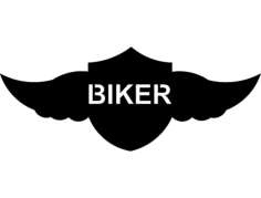 winged shield biker Free Dxf for CNC