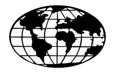 world map globe Free Dxf for CNC