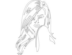 modern girl Free Dxf for CNC