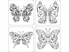 borboletas Free Dxf for CNC