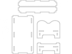 cama (bed) 3d Free Dxf for CNC