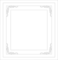 decorative frame Free Dxf for CNC