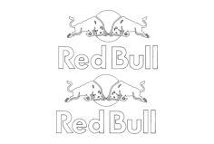 red bull Free Dxf for CNC