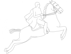 cavalo corrida Free Dxf for CNC