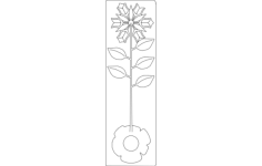 rose metal 3d Free Dxf for CNC
