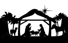 md nativity full Free Dxf for CNC