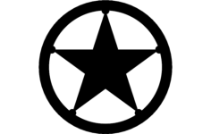 texas star Free Dxf for CNC