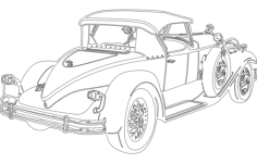 car old Free Dxf for CNC