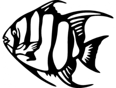 angel fish 2 Free Dxf for CNC