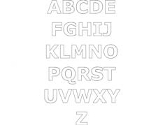 alphabet gimp Free Dxf for CNC