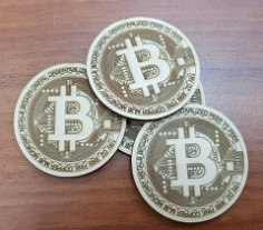 bitcoin logo Free Dxf for CNC