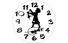 horloge fille Free Dxf for CNC