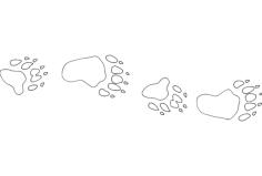 bear camp tracks Free Dxf for CNC