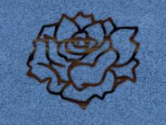 rose wall accent Free Dxf for CNC