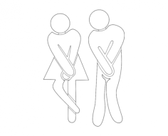 toilettes Free Dxf for CNC