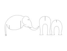 elephant 3 pc Free Dxf for CNC