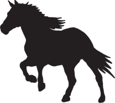 Horse Silhouette dxf File Format