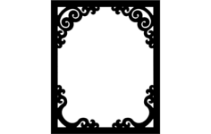 decoration frame Free Dxf for CNC