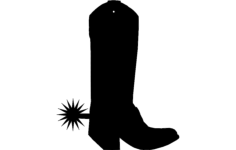 boot charm Free Dxf for CNC