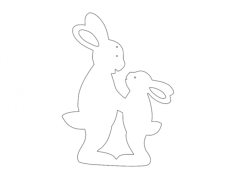 hasen (rabbits) Free Dxf for CNC