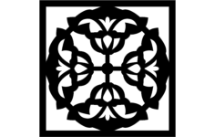 flower grille pattern Free Dxf for CNC