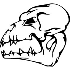 skull 003 Free Dxf for CNC