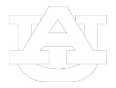 auburn logo Free Dxf for CNC