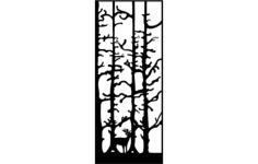 deer door Free Dxf for CNC