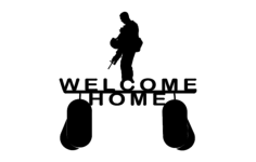 welcome home soldier Free Dxf for CNC