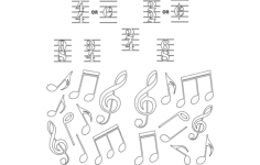 Musics Notes Dxf File Format