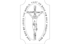 jesus on cross Free Dxf for CNC