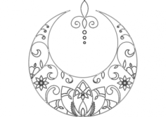 moon tattoo Free Dxf for CNC