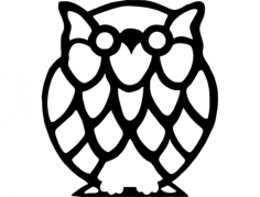 buho owl Free Dxf for CNC