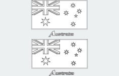 flag of australia Free Dxf for CNC