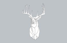 deer 1 Free Dxf for CNC