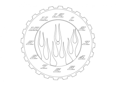fire horloge Free Dxf for CNC