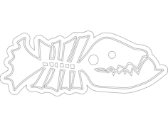 fish line art Free Dxf for CNC