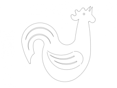 rooster crow Free Dxf for CNC