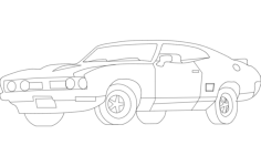 car trace Free Dxf for CNC