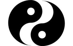 ying yang Free Dxf for CNC
