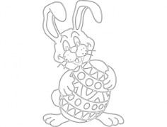 osterhase (rabbit) Free Dxf for CNC