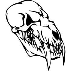 skull 007 Free Dxf for CNC