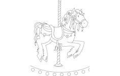 horse carousel Free Dxf for CNC