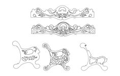 banquette Free Dxf for CNC